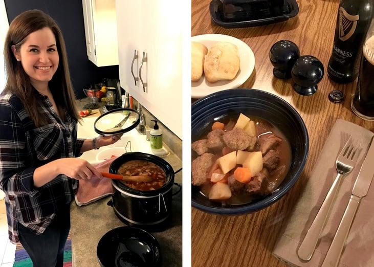 Boelter Beverage's Sarah making her Irish Stout Stew