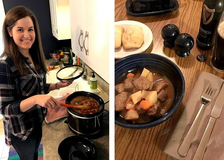 Boelter Beverage's Sarah making her Irish Stout Stew